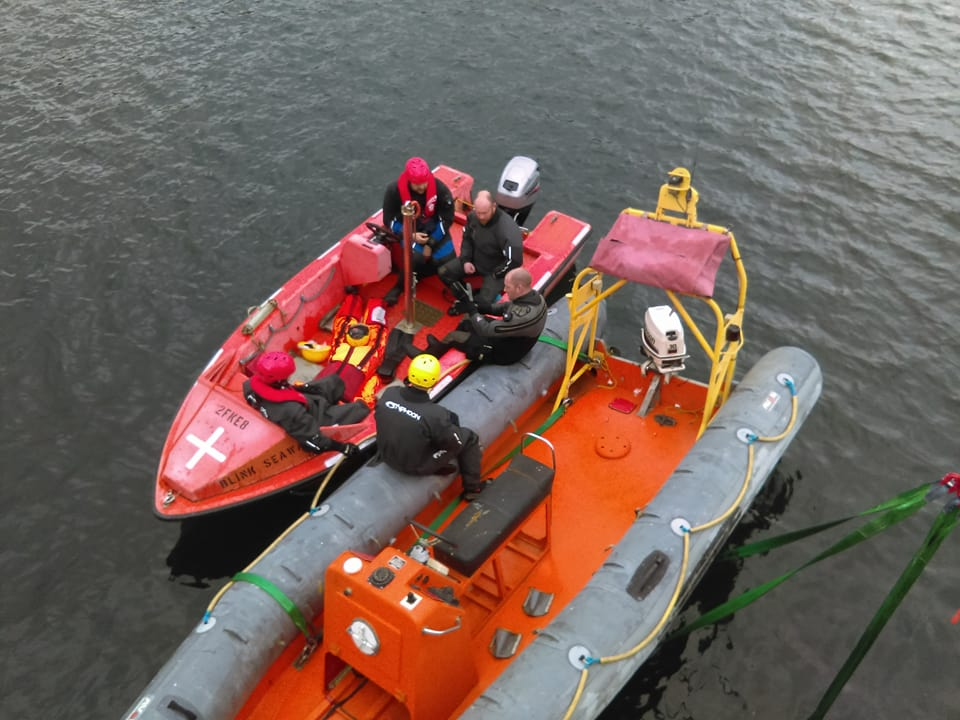 Fast Rescue Boat training