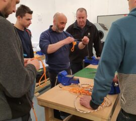Learning the ropes - part of our Efficient Deck Hand (EDH) course