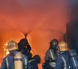 'live fire' as part of an STCW Fire Prevention and Fire Fighting course